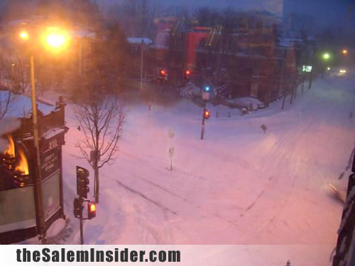 Salem streets in the snow