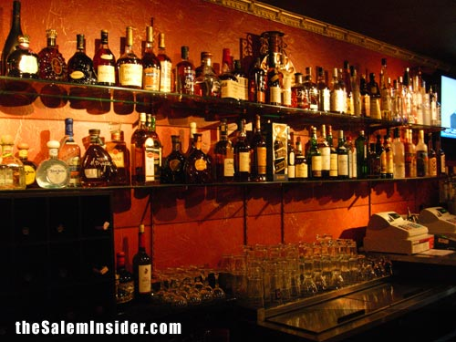 Well stocked bar of Spirit\'s 300 Derby