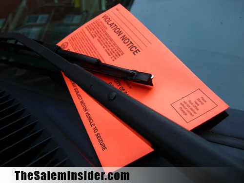 Salem parking ticket