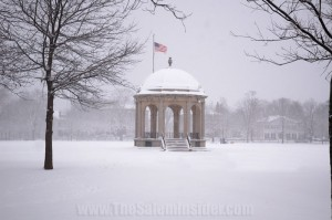 Salem Common durring Snow Storm