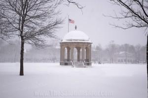 Salem Common durring Snow Storm